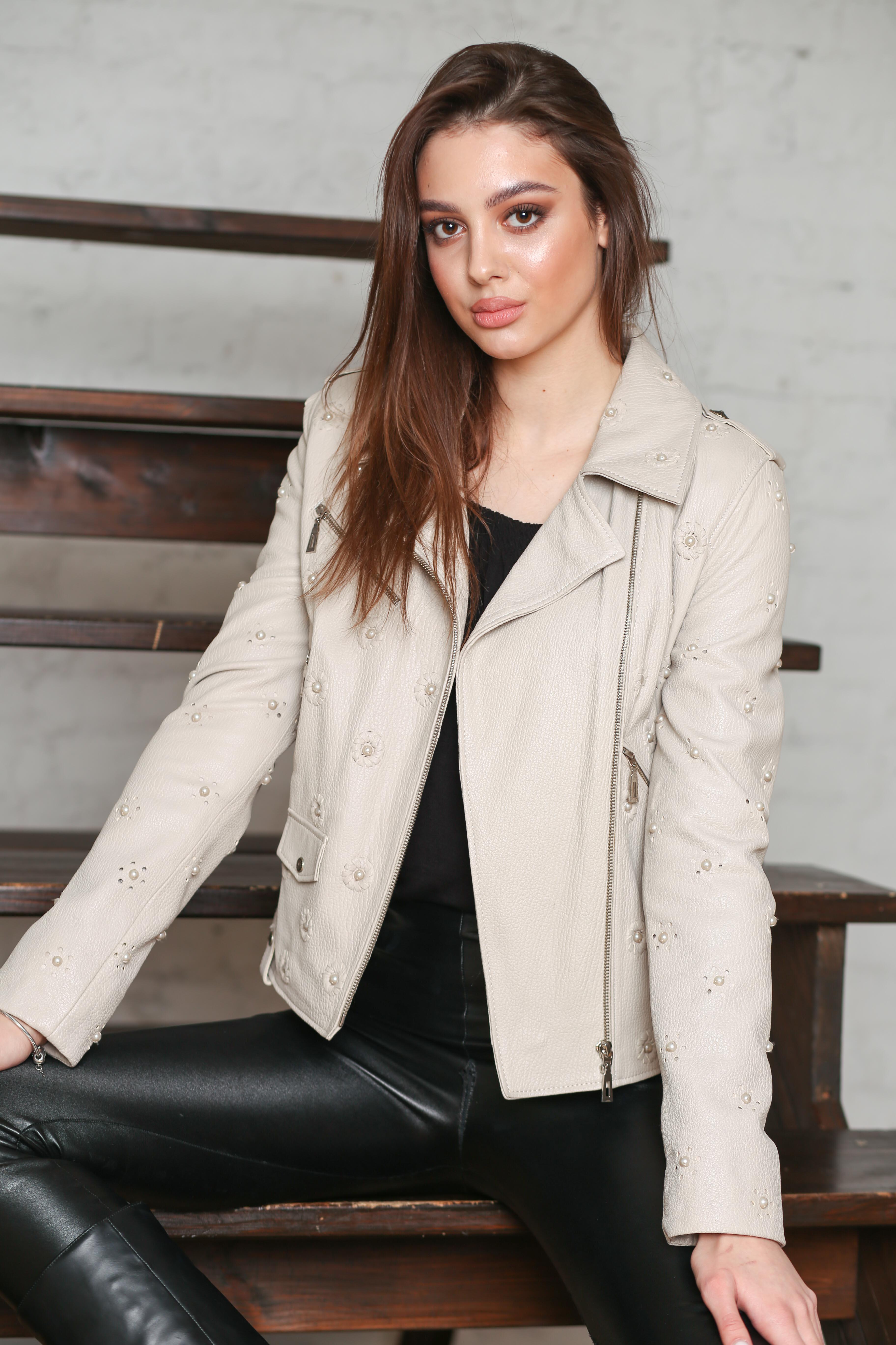 Женская кожаная куртка Z-3195