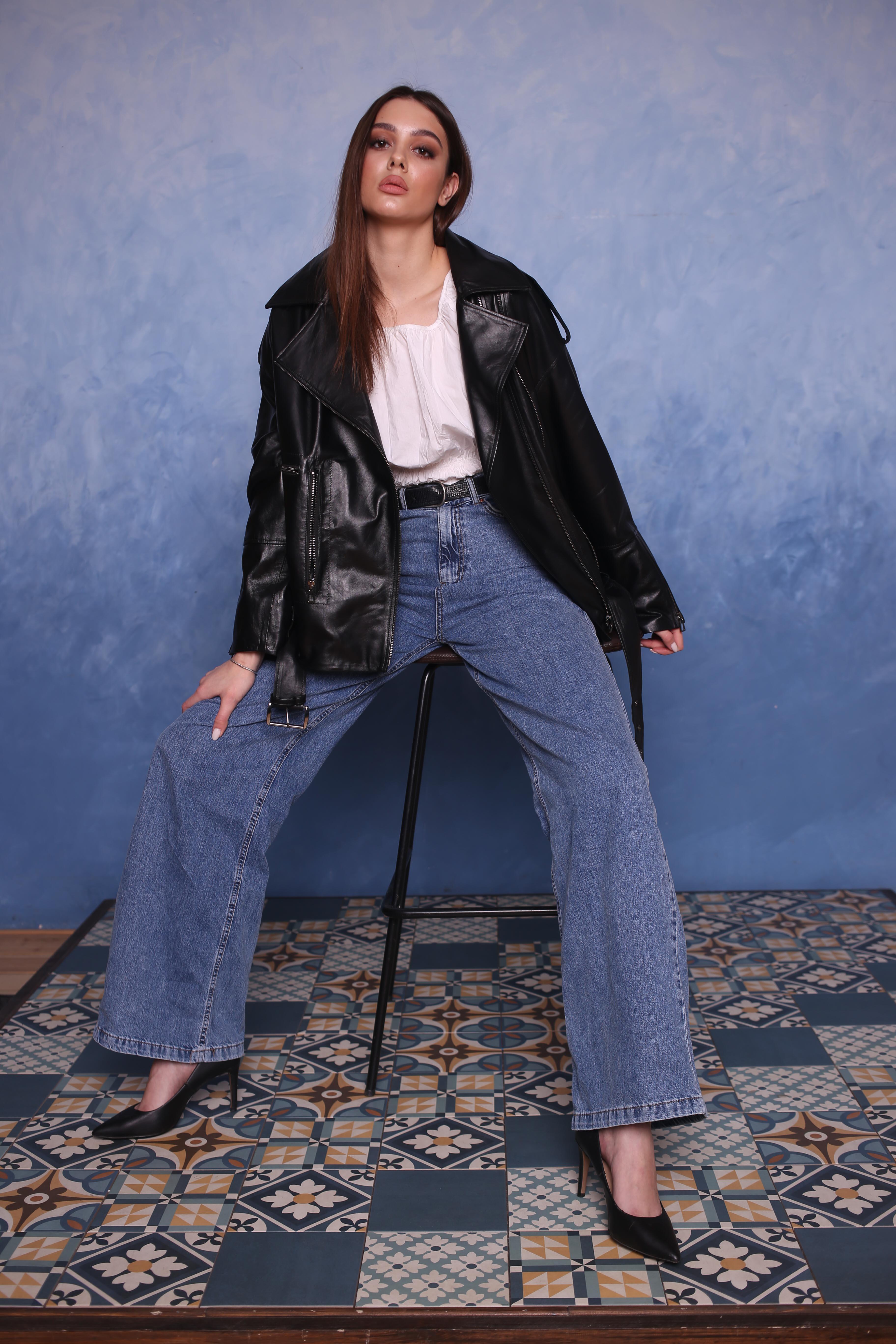 Женская кожаная куртка MSN-104