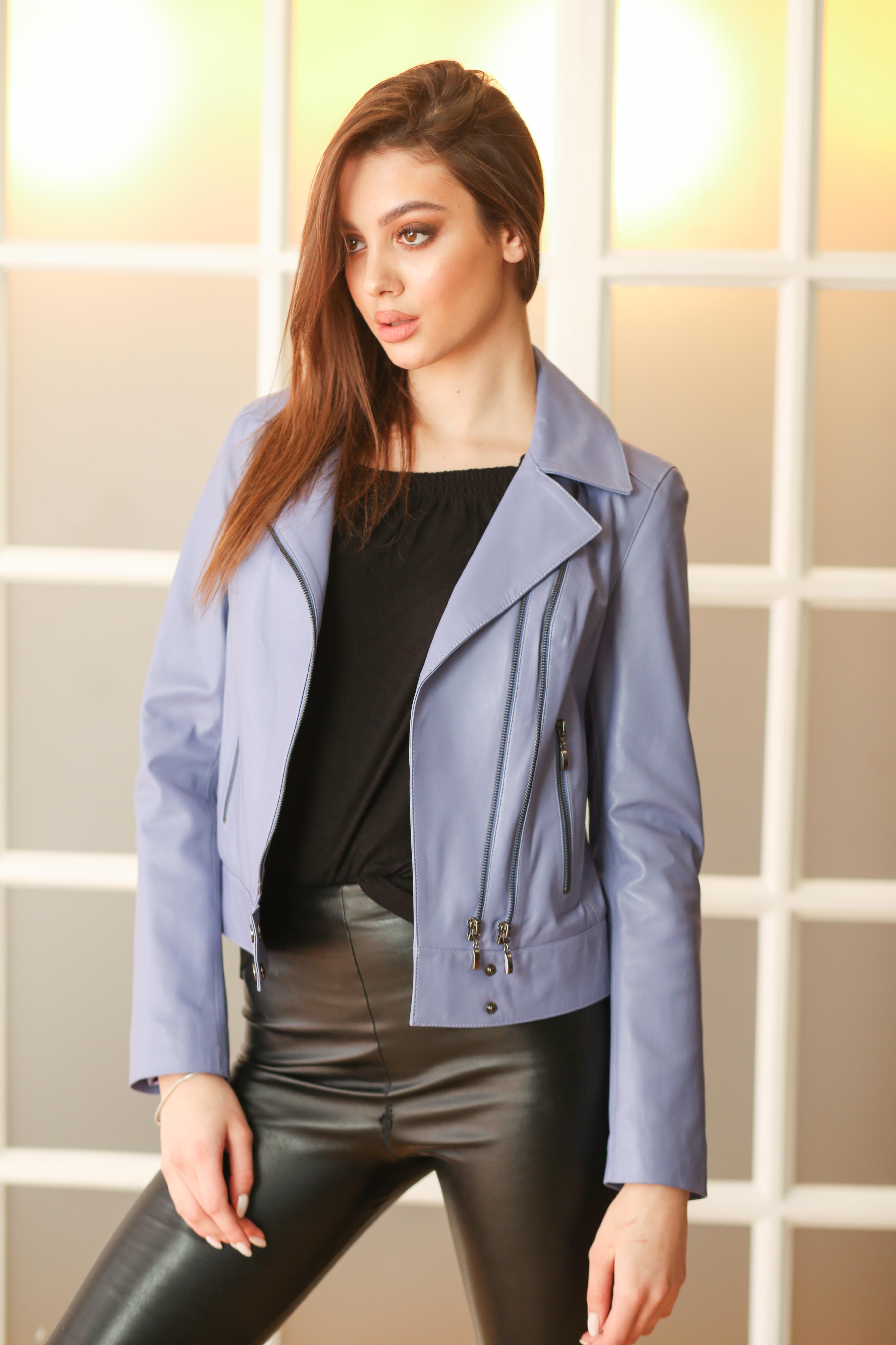 Женская кожаная куртка B-177