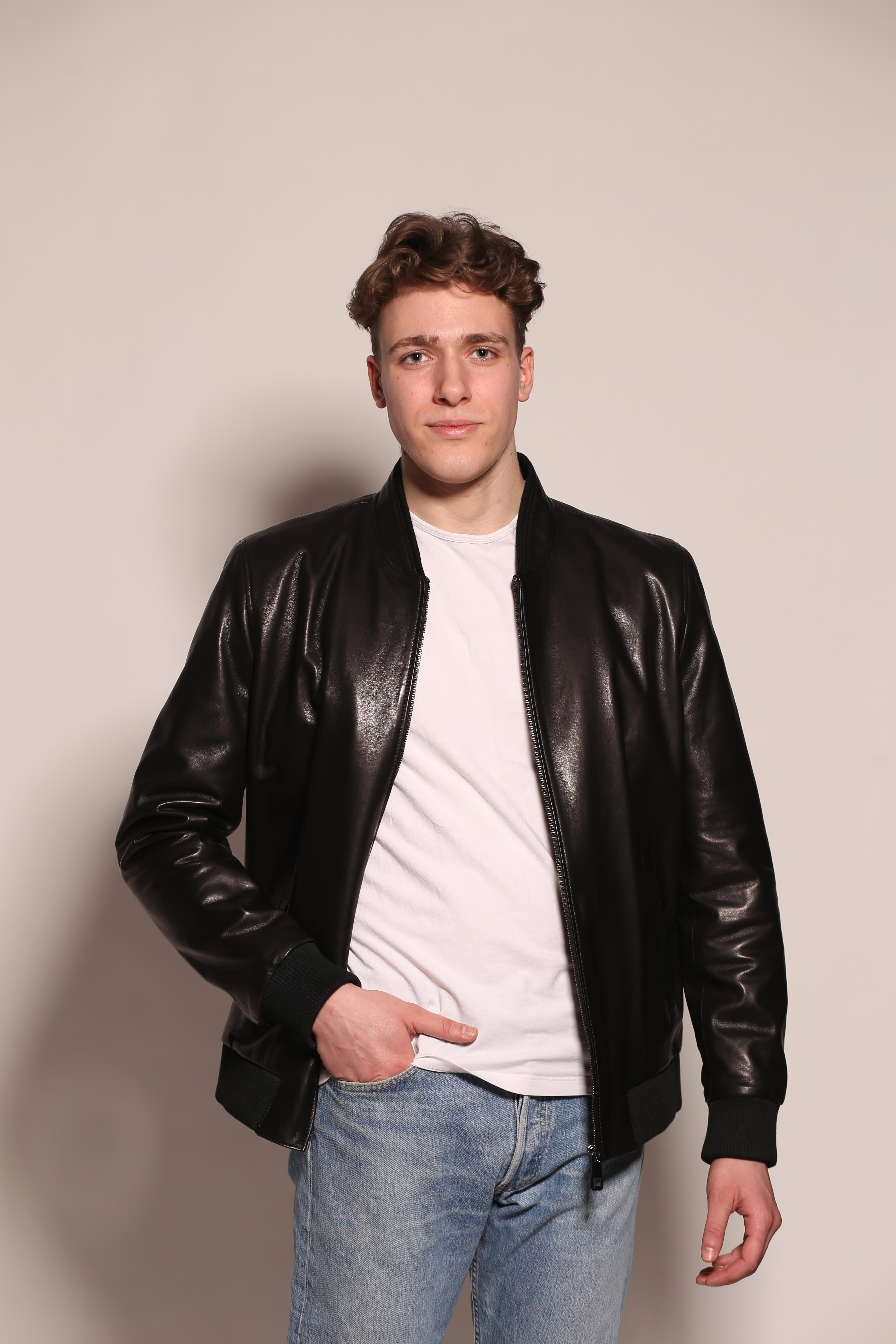 Мужская кожаная куртка 1441