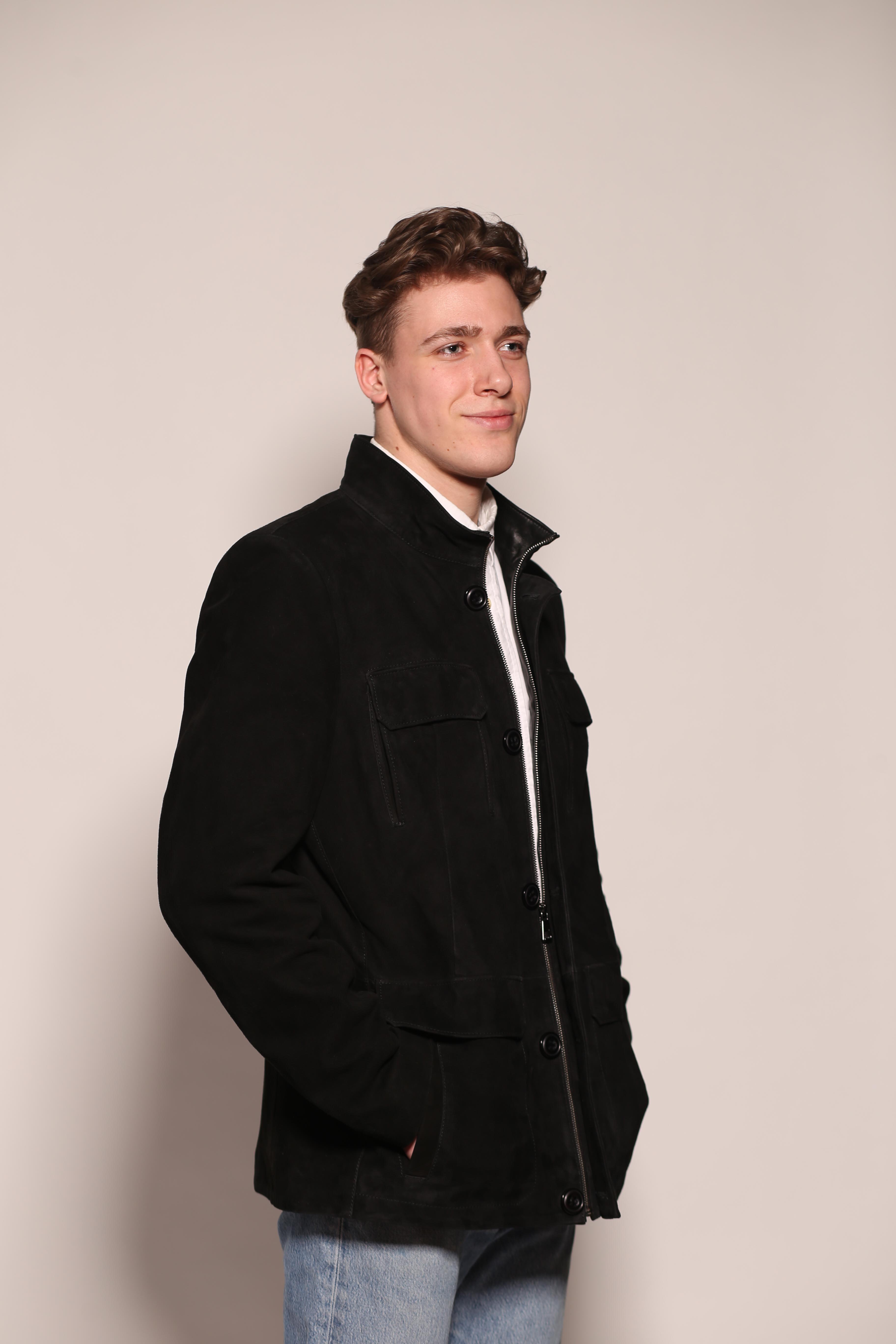 Мужская замшевая куртка 6131