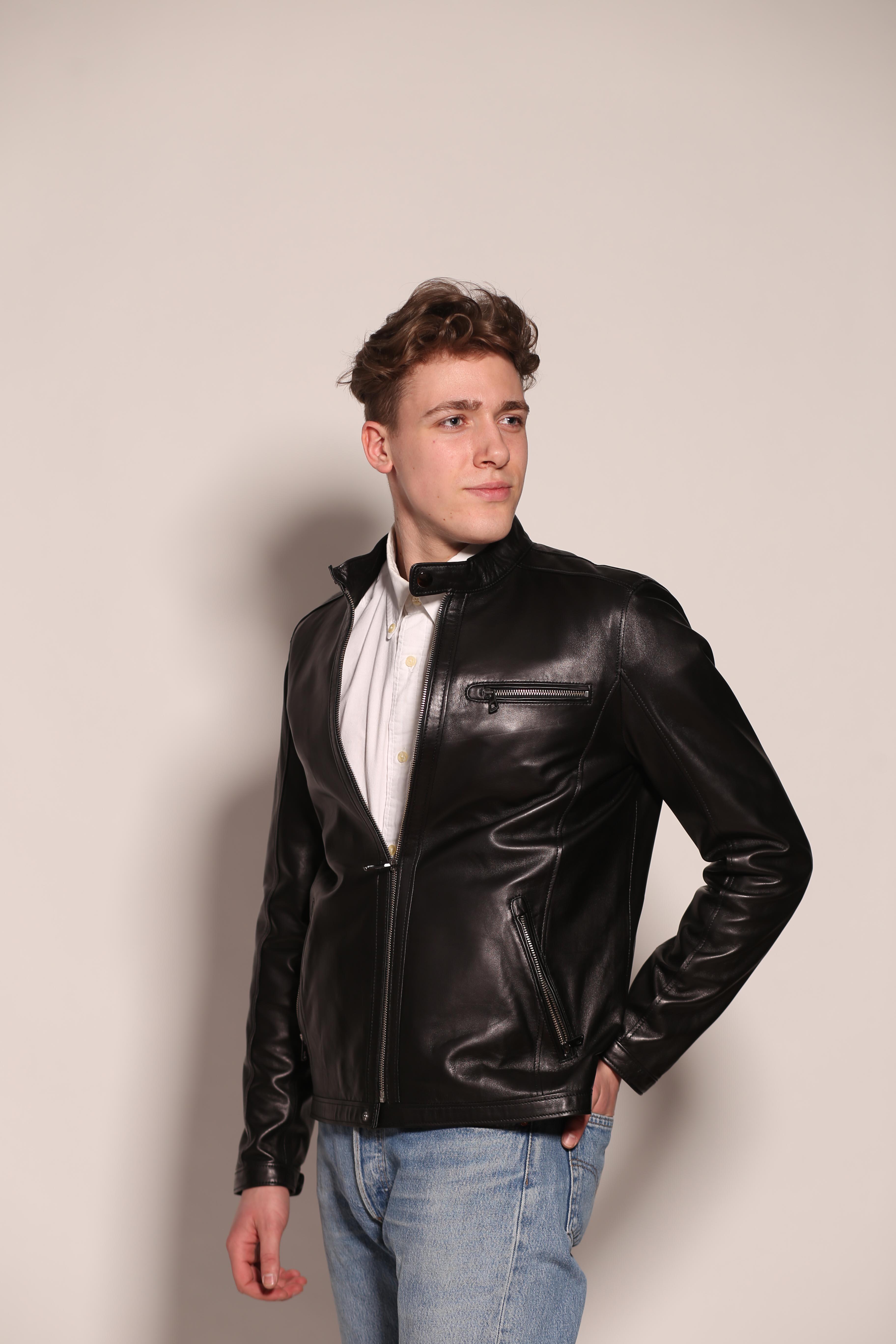 Мужская кожаная куртка 7467