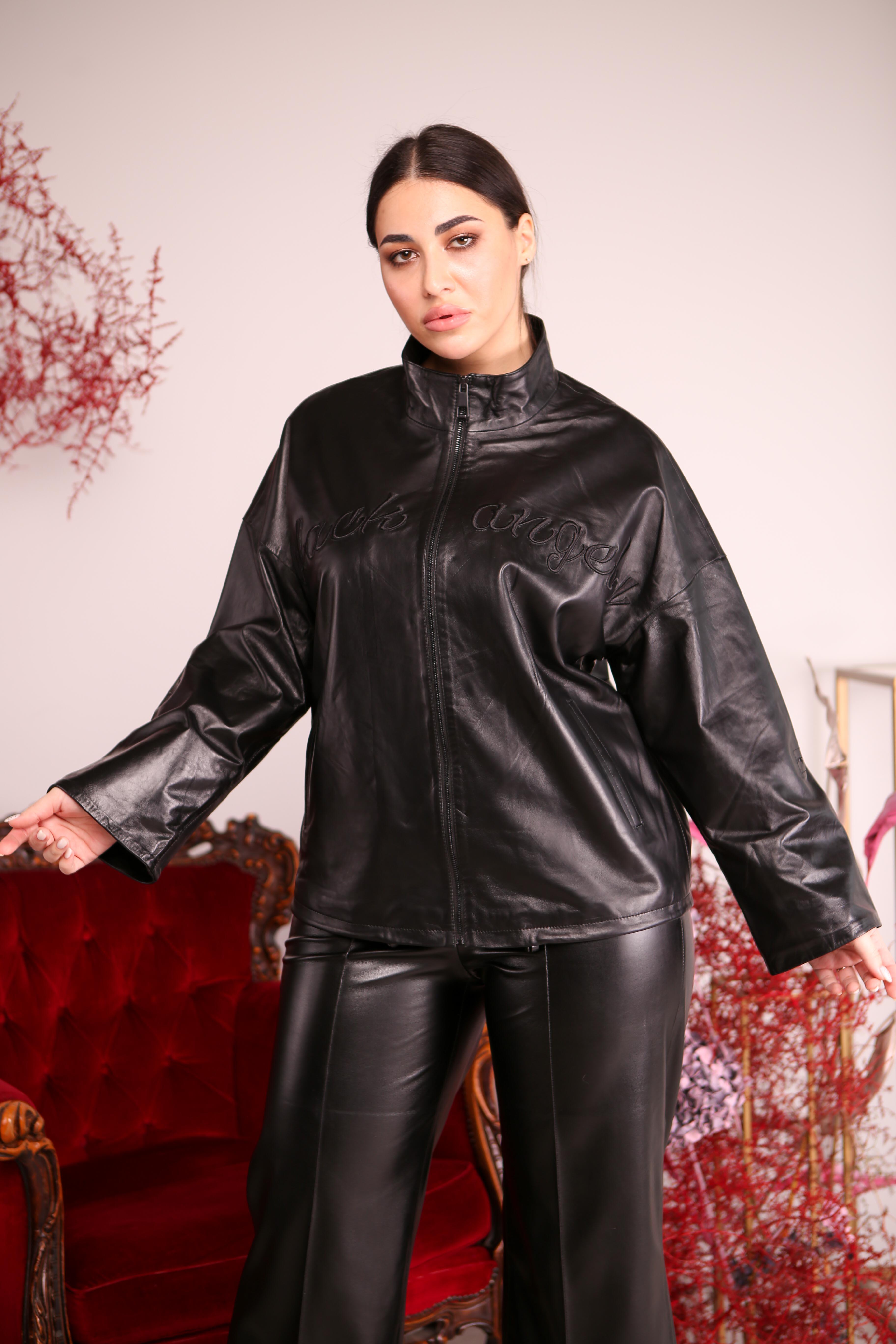 Женская кожаная куртка A-01