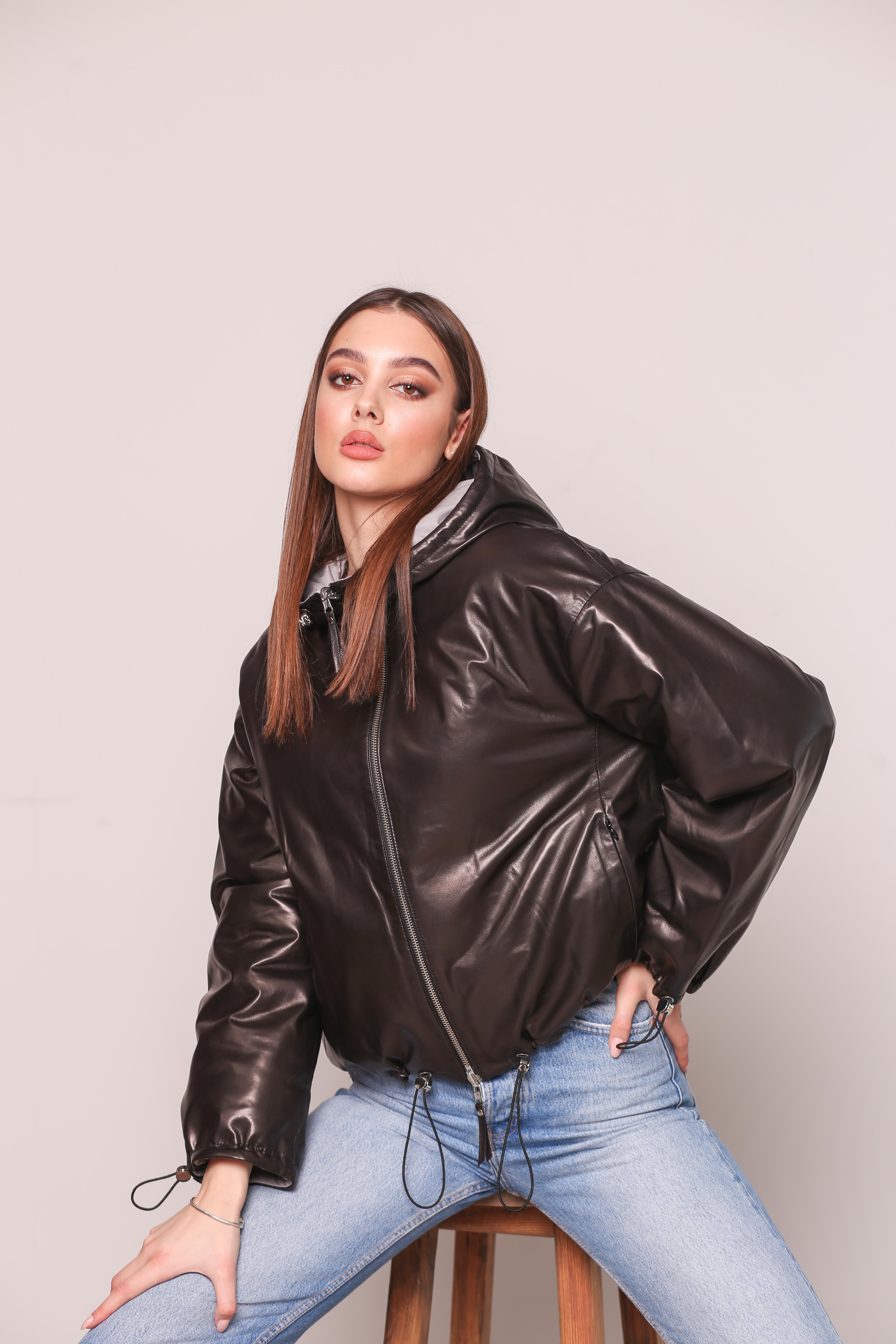 Женская кожаная куртка KZ-10190