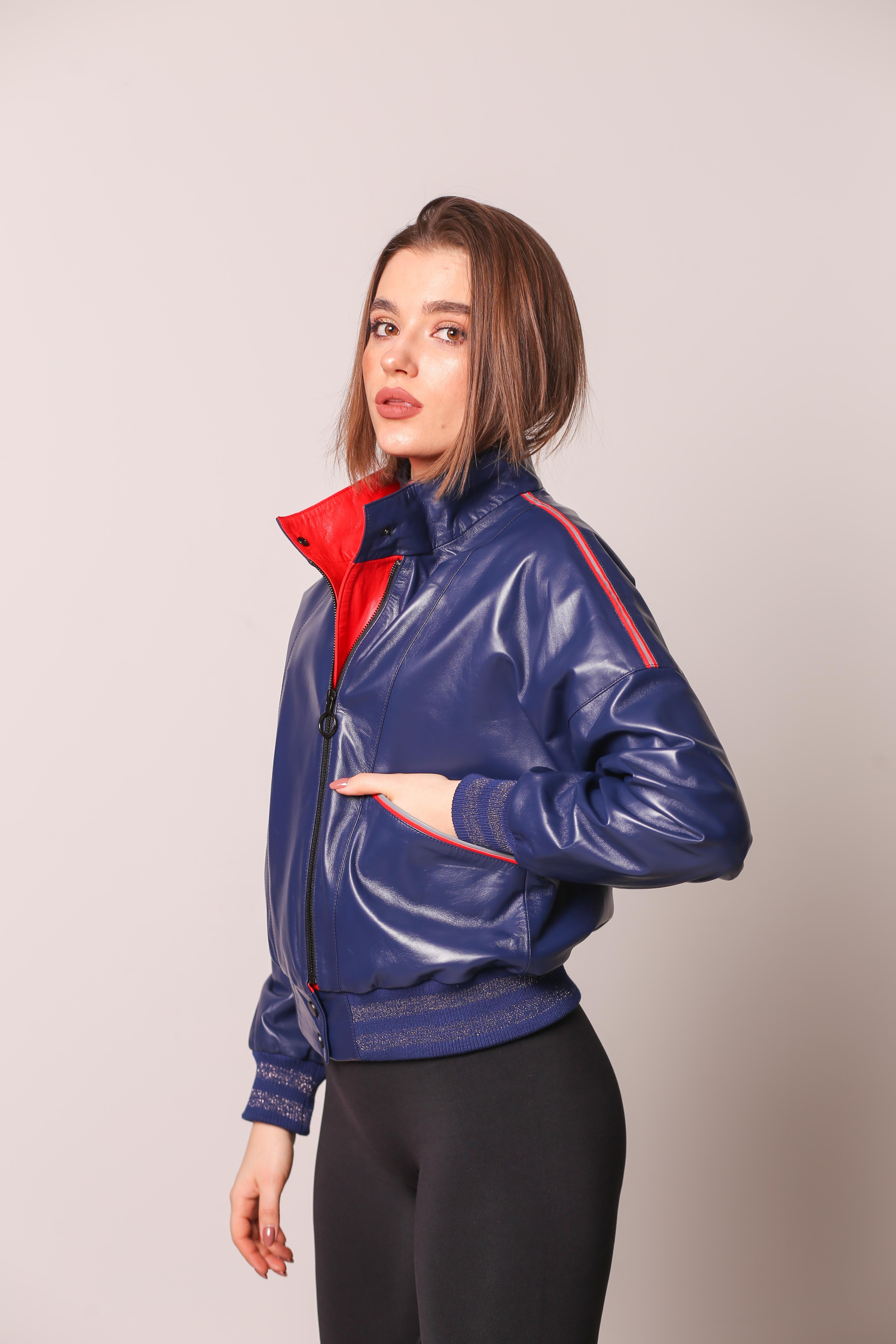 Женская кожаная куртка 998